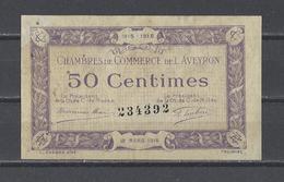 Chambre De Commerce De L'AVEYRON  Billet De 50c - Chambre De Commerce