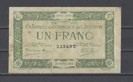 Chambre De Commerce De L'AVEYRON  Billet De 1.00F - Chambre De Commerce