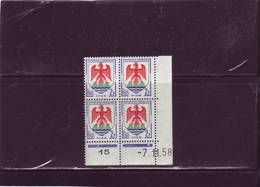 N°1184 - 2F Blason De NICE -A De A+B - 1° Tirage Du 9.10.58 Au 7.11.58 - 7.11.1958 - - Dated Corners
