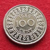 Surinam 100 Cents 1989 KM# 23 Suriname Surinão - Surinam 1975 - ...
