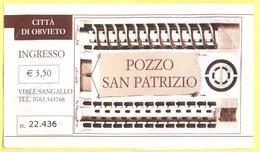 ORVIETO - Pozzo Di San Patrizio - Biglietto Ingresso - Biglietti D'ingresso