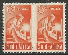 South Africa - 1942 Welder 6d Pair MH *   SG 102  Sc 96 - South Africa (...-1961)