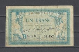 Chambre De Commerce De MARSEILLE  Billet De 1.00F - Chamber Of Commerce
