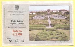 Bagnaia (Viterbo) - Villa Lante - Biglietto D'Ingresso Intero - Biglietti D'ingresso