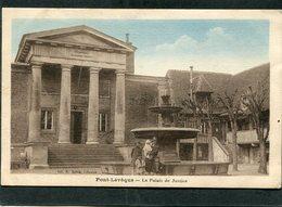 CPA - PONT L'EVEQUE - Le Palais De Justice, Animé - Pont-l'Evèque