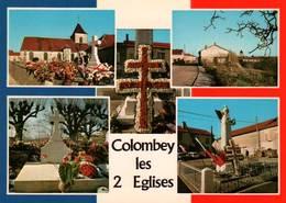 CPM - DE GAULLE - COLOMBEY Les 2 églises - Tombe Fleurie Et Le Monument Aux Morts - People