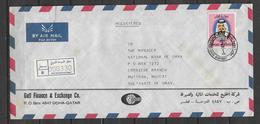 USED REGISTERED  AIR MAIL COVER QATAR TO PAKISTAN - Qatar
