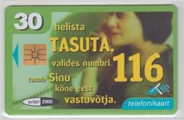 ESTONIA 1999 COLLECT CALL NUMBER 116 - Estonia