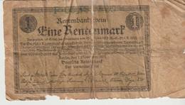 RENTENBANKSCHEINE - 1 RENTENMARK - 1923 - [ 3] 1918-1933 : República De Weimar