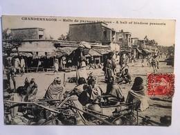 CPA, Chandernagor, Halte De Paysans Hindous, écrite En 1909, Timbre - Indien
