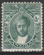 Zanzibar 1914 - SG 268, 50cts - MLH - Zanzibar (...-1963)