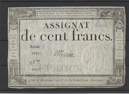 ASSIGNAT DE 100F Domaines Nationaux - Assignats
