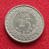 Surinam 25 Cents 1976 KM# 14 Suriname Surinão - Surinam 1975 - ...