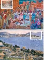 CM-Carte Maximum Card # France-2019 # France # Art # Peintures,Gemälde ,paintings By Paul  Cézanne  , Jacques Majorelle - Cartoline Maximum