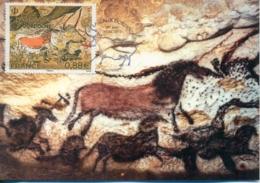 """CM-Carte Maximum Card # France-2019 # France # Art Rupestre -,Grotte De Lascaux """" La Salle Des Taureaux"""",Montignac - Maximum Cards"""