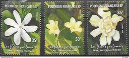 Polynésie Française  2001   Fleurs  Cat Yt     N° 652, 653, 654    N** MNH - Polynésie Française