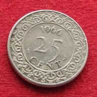 Surinam 25 Cents 1966 KM# 14  *V2 Suriname Surinão - Suriname 1975 - ...