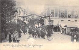 EVENEMENT Réception Event ITALIA - Le ROI Et La REINE D'ITALIE à PARIS 1903 : A RAMBOUILLET Décoration Des Rues - CPA - Receptions