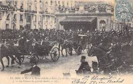 EVENEMENT Réception Event ITALIA - Le ROI Et La REINE D'ITALIE à PARIS 1903 : La Voiture Du Général ANDRE - CPA - Receptions