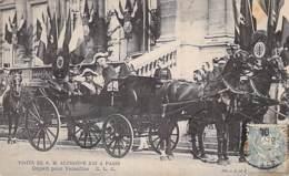 EVENEMENT Réception Event ESPANA Espagne - Visite De S.M. ALPHONSE XIII à PARIS - Départ Pour VERSAILLES - CPA - - Receptions