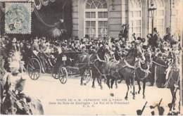 EVENEMENT Réception Event ESPANA Espagne - Visite De S.M. ALPHONSE XIII à PARIS - Gare Du Bois De Boulogne  - CPA - Receptions