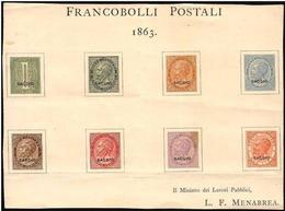 Italia/Italy: Saggio, Sage, Assay, Spécimen, Foglio Menabrea, Feuille Menabrea, Sheet Menabrea - 1861-78 Victor Emmanuel II.