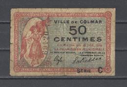 Bon Nécessité Ville De COLMAR Bon De 50c - Bonds & Basic Needs