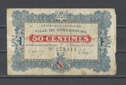 Bon Nécessité Ville De STRASBOURG  Bon De 50c - Bonds & Basic Needs