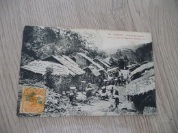 CPA Chine China Marché De Nam Si Dans La Vallée Du Nam Thi Km 23  1 Old Stamps Circulated Cachet Paypal Ok Out Of Europe - China