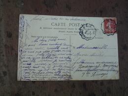 Homecourt A Conflans Cachet Ambulant Convoyeur Poste Ferroviaire Sur Lettre - Marcophilie (Lettres)