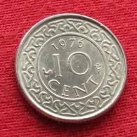 Surinam 10 Cents 1976 KM# 13  Suriname Surinão - Surinam 1975 - ...