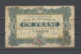 Bon Nécessité Ville De STRASBOURG  Bon De 1.00F - Bonds & Basic Needs