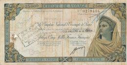 CHEQUE DE VOYAGE  25000 FRANCS FRANCAIS - Chèques & Chèques De Voyage