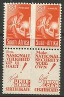 South Africa - 1942 Welder 6d National Security Margin Pair MNH **   SG 102  Sc 96 - South Africa (...-1961)
