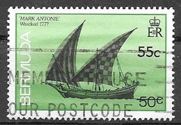 1990 55 Cents On 50 Cents Shipwreck, Mark Antonie, Used - Bermuda