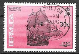 1990 30 Cents On 12 Cents Shipwreck, Warwick, Used - Bermudes