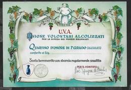 DIPLOMA U.V.A. - UNIONE VOLONTARI ALCOLIZZATI - NUOVA - Humor
