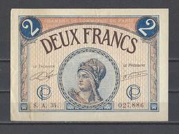 Chambre De Commerce De PARIS  Billet De 2.00F - Chamber Of Commerce
