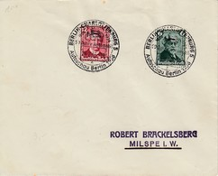 Env Affr Michel 604 + 605 Obl BERLIN CHARLOTTENBURG 5 Du 24.2.36 Autoschau Berlin 1936 / 50 Jahre Automobil Pour Milspe - Germany