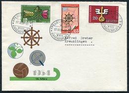 1954 Switzerland Kreuzlingen Hirschenplatz Cover - Switzerland