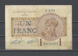 Chambre De Commerce De PARIS  Billet De 1.00F - Chamber Of Commerce
