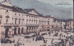AOSTA PIAZZA CARLO ALBERTO E PALAZZO MUNICIPALE  VG AUTENTICA 100% - Aosta