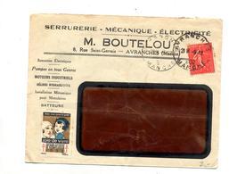 Lettre Cachet Avranches Pompe Moteur Batteuse - Marcophilie (Lettres)