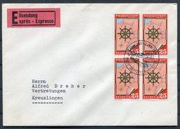 1954 Switzerland Rheinschiffahrt Nach Basel Express Cover - Switzerland