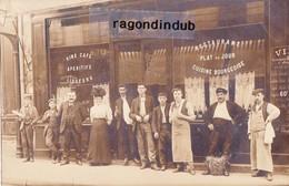 CPA PHOTO - 75 - PARIS (Probalement) - MAISON BROUSSE Beau Café Restaurant à Situer Vers 1905 1910 Environ - Postcards