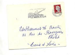 Lettre Flamme Marseille Toute Destination - Marcofilia (sobres)