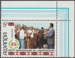 Rwanda 1987 COB 1300A. Non émis, 5 F 25ème Anniversaire De L'indépendance. Animation. Cote 100 € - Rwanda