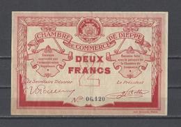 Chambre De Commerce De DIEPPE  Billet De 2.00F - Cámara De Comercio
