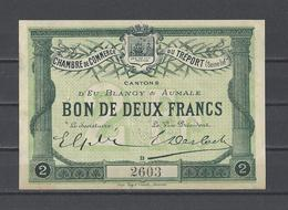 Chambre De Commerce Du TREPORT  Billet De 2.00F - Chamber Of Commerce