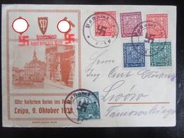 Postkarte Propaganda Sudetenland 1938 Postamt Leipa - Erhaltung II- - Briefe U. Dokumente